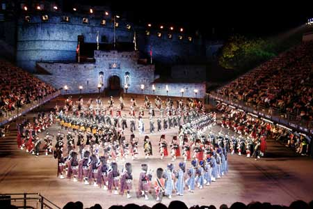 The annual military and music extravaganza that is the Edinburgh Tattoo,